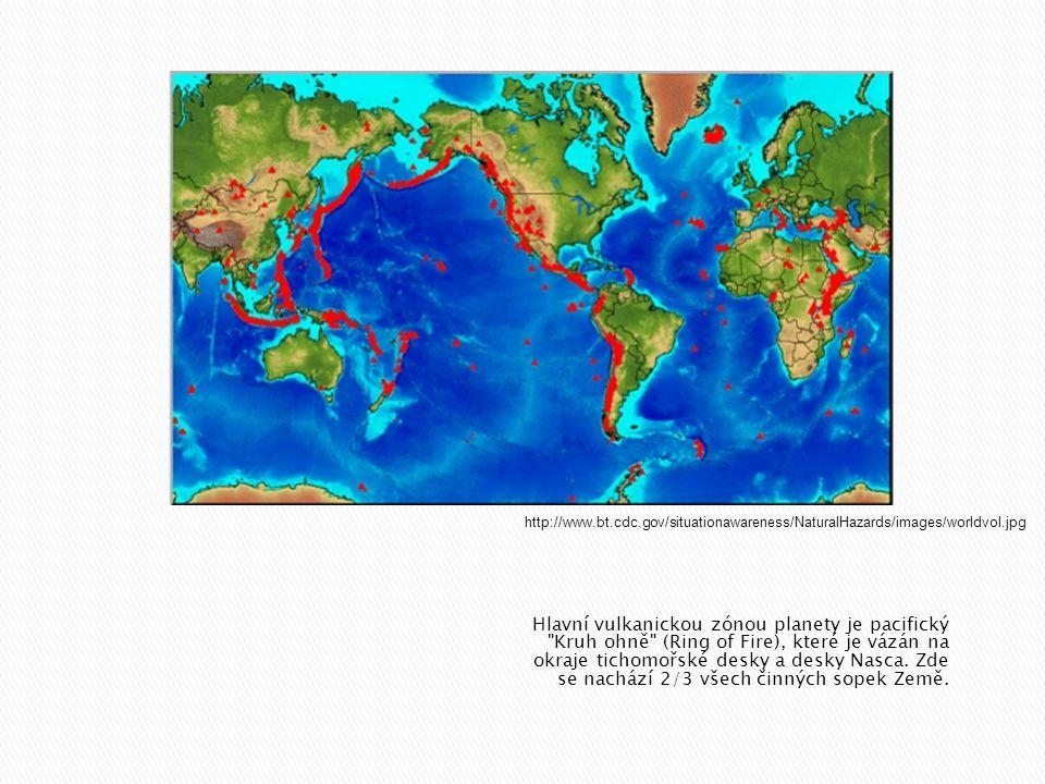  Primární hazardy zahrnují - lávové proudy, - výbuchy spojené se spádem tefry, - žhavá mračna, - exhalace plynných látek - vznik sopečných zemětřesení.