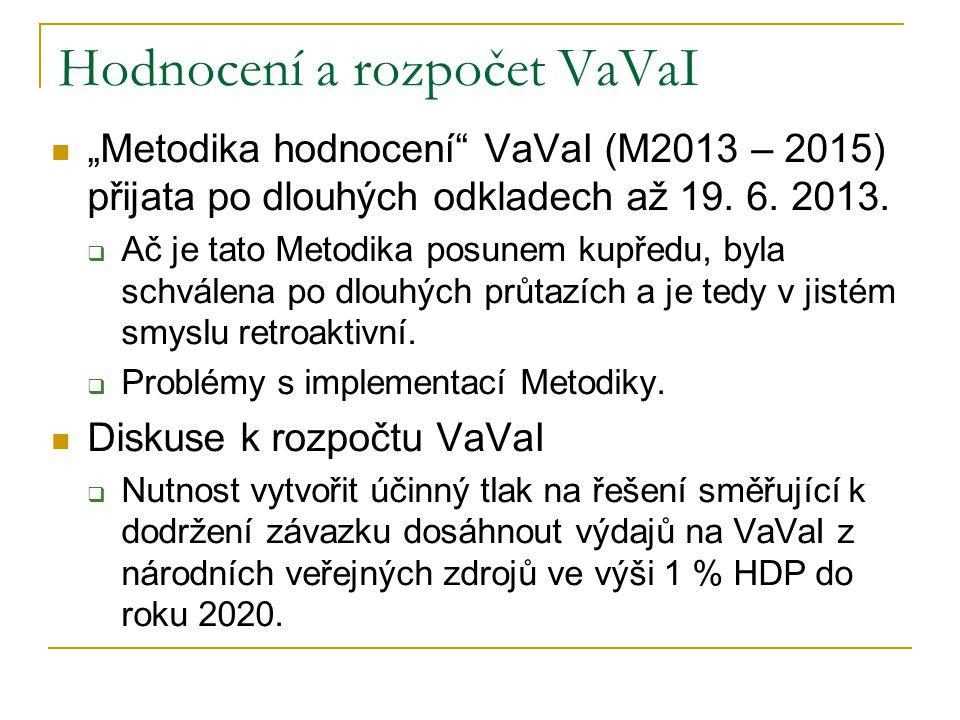 """Hodnocení a rozpočet VaVaI  """"Metodika hodnocení VaVaI (M2013 – 2015) přijata po dlouhých odkladech až 19."""