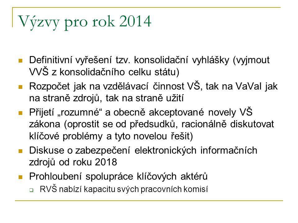 Výzvy pro rok 2014  Definitivní vyřešení tzv.