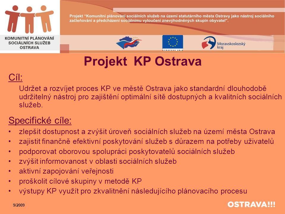 Projekt KP Ostrava Cíl: Udržet a rozvíjet proces KP ve městě Ostrava jako standardní dlouhodobě udržitelný nástroj pro zajištění optimální sítě dostup