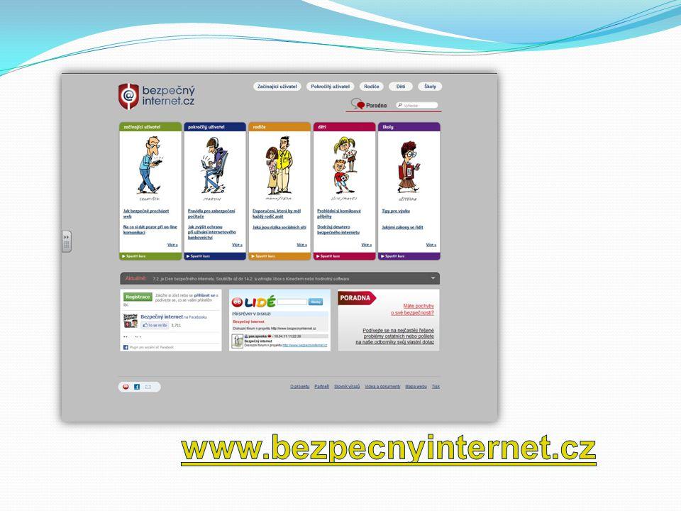 Bezpečný Internet - doporučení pro rodiče