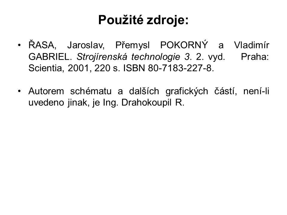 Použité zdroje: •ŘASA, Jaroslav, Přemysl POKORNÝ a Vladimír GABRIEL.