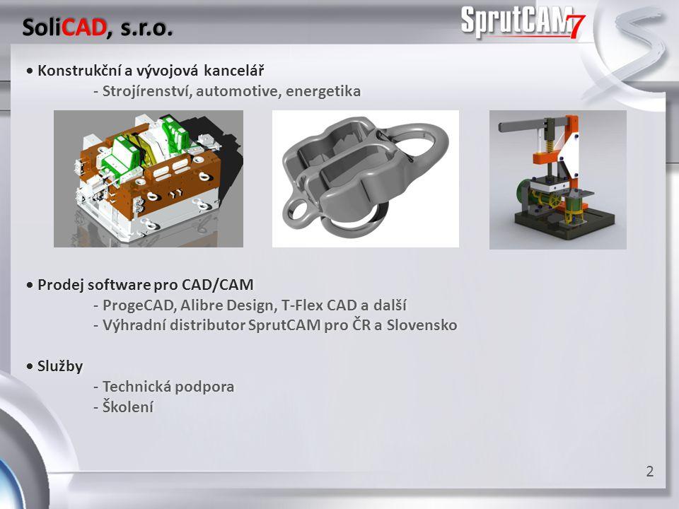 SPRUT Technology • Vývoj softwaru pro strojírenský průmysl• Vývoj softwaru pro strojírenský průmysl - více než 20 let zkušeností- více než 20 let zkušeností - 2 hlavní sídla:Naberezhnye Chelny - centrála- 2 hlavní sídla:Naberezhnye Chelny - centrála Moskva - pobočka, spolupráce s MSTUMoskva - pobočka, spolupráce s MSTU 3