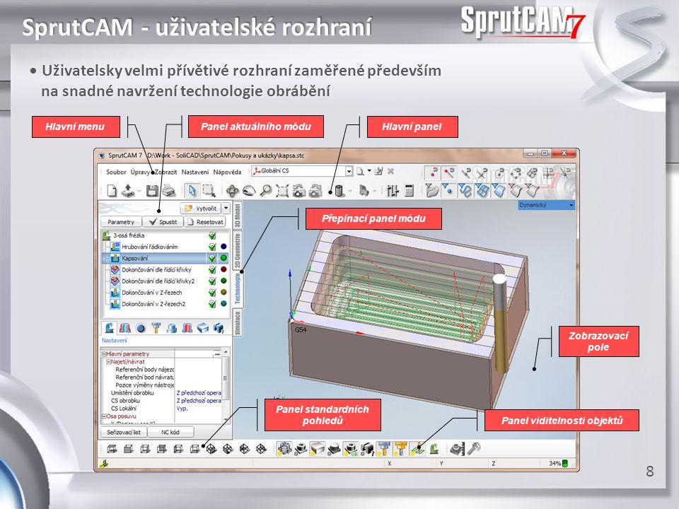 SprutCAM - parametry • Podpora velkého množství přehledně uspořádaných technologických • Podpora velkého množství přehledně uspořádaných technologických parametrů usnadňuje nejen práci, ale také produkci NC programu parametrů usnadňuje nejen práci, ale také produkci NC programu 9