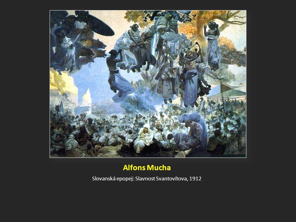 Alfons Mucha Slovanská epopej: Slavnost Svantovítova, 1912