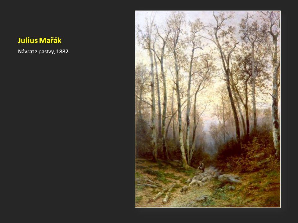 Julius Mařák Návrat z pastvy, 1882