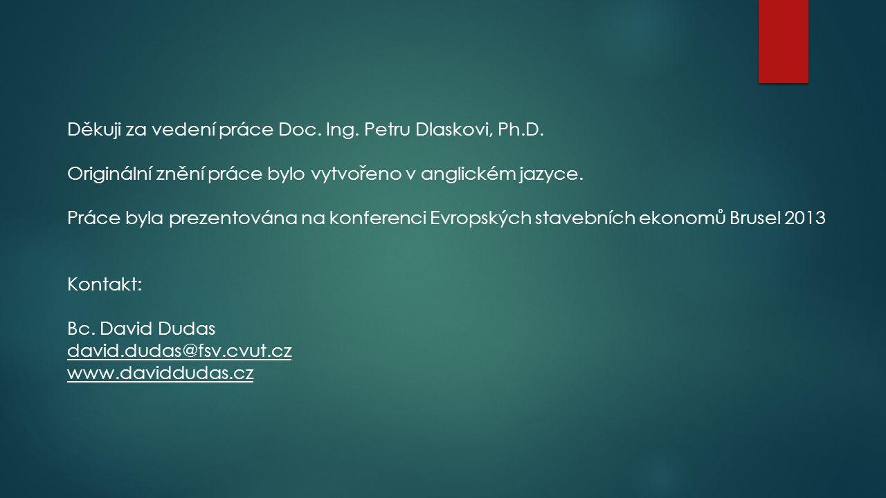Děkuji za vedení práce Doc. Ing. Petru Dlaskovi, Ph.D. Originální znění práce bylo vytvořeno v anglickém jazyce. Práce byla prezentována na konferenci