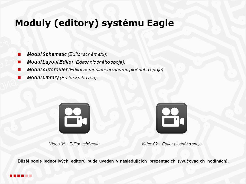  poslední dostupná verze programu Eagle Light pro OS Windows (OS Linux nebo Mac lze stáhnout na http://www.cadsoft.de/download-eagle/ ) ;http://www.cadsoft.de/download-eagle/  po stažení spustíme instalaci;  program je distribuován formou *.exe souboru, takže instalace je velice snadná;  instalace se implicitně provádí do podadresáře Program Files, tento adresář nese celé označení verze programu Eagle (např.