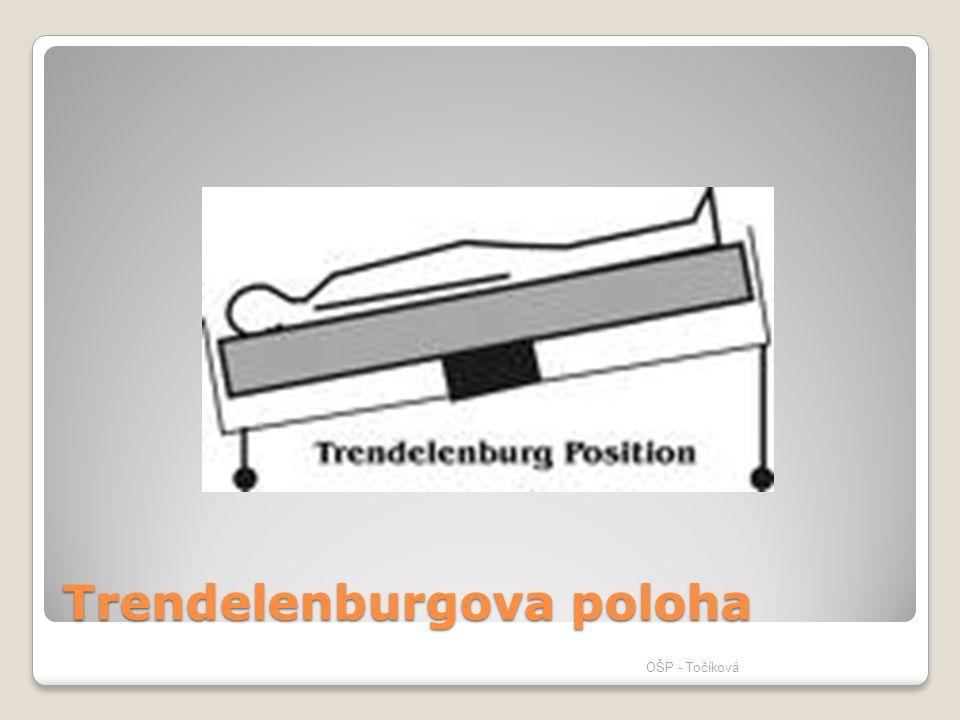 Trendelenburgova poloha OŠP - Točíková