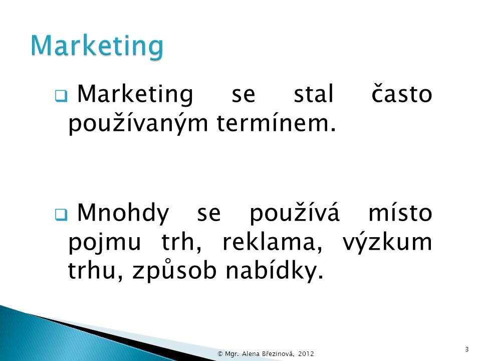 Název vzdělávacího materiálu Marketing Číslo vzdělávacího materiáluVY_32_INOVACE_13-01-BN Číslo šablonyIII/2 AutorBřezinová Alena, Mgr.