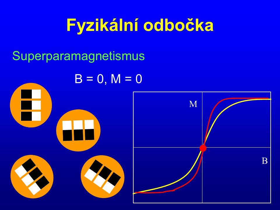 Fyzikální odbočka Superparamagnetismus B M B = 0, M = 0