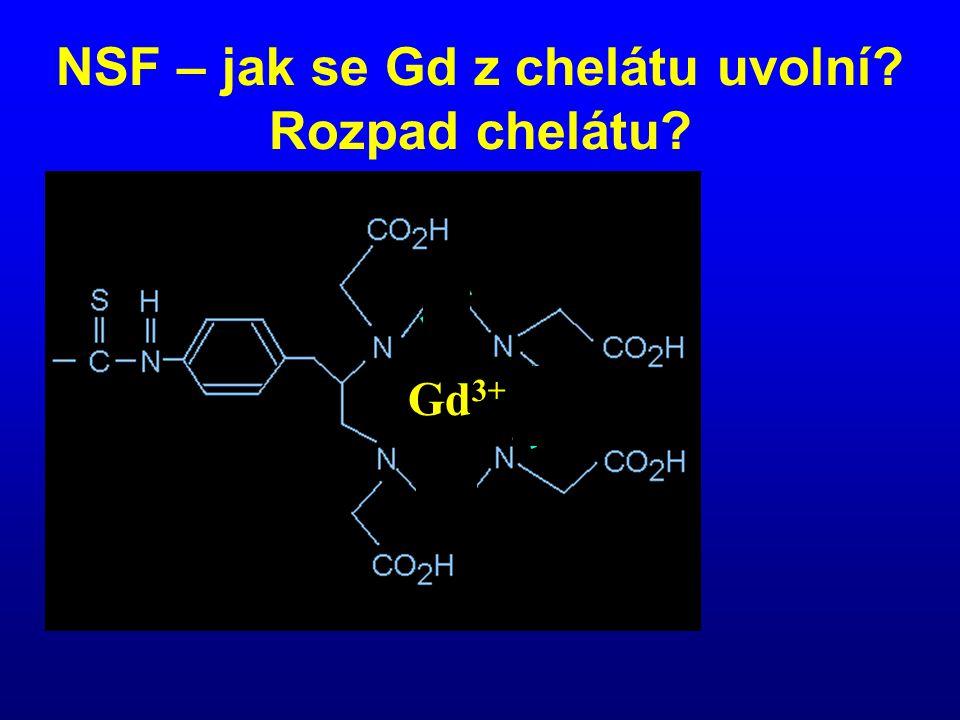 NSF – jak se Gd z chelátu uvolní? Rozpad chelátu? Gd 3+