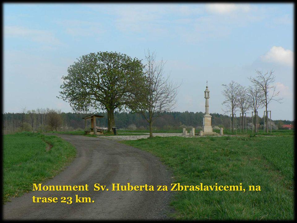 Monument Sv. Huberta za Zbraslavicemi, na trase 23 km.