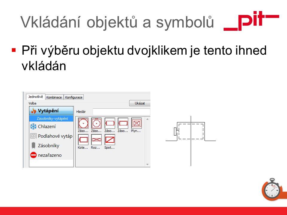www.pit.de Vkládání objektů a symbolů  Při výběru objektu dvojklikem je tento ihned vkládán