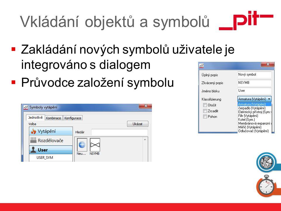 www.pit.de Vkládání objektů a symbolů  Zakládání nových symbolů uživatele je integrováno s dialogem  Průvodce založení symbolu