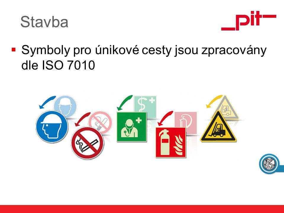 www.pit.de Stavba  Symboly pro únikové cesty jsou zpracovány dle ISO 7010