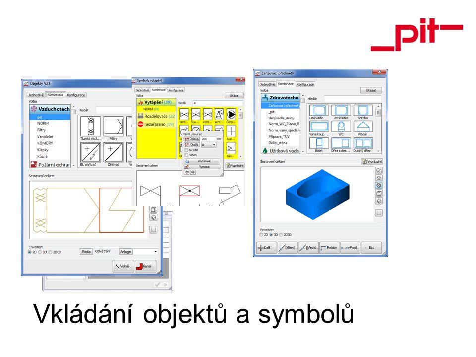 Vkládání objektů a symbolů