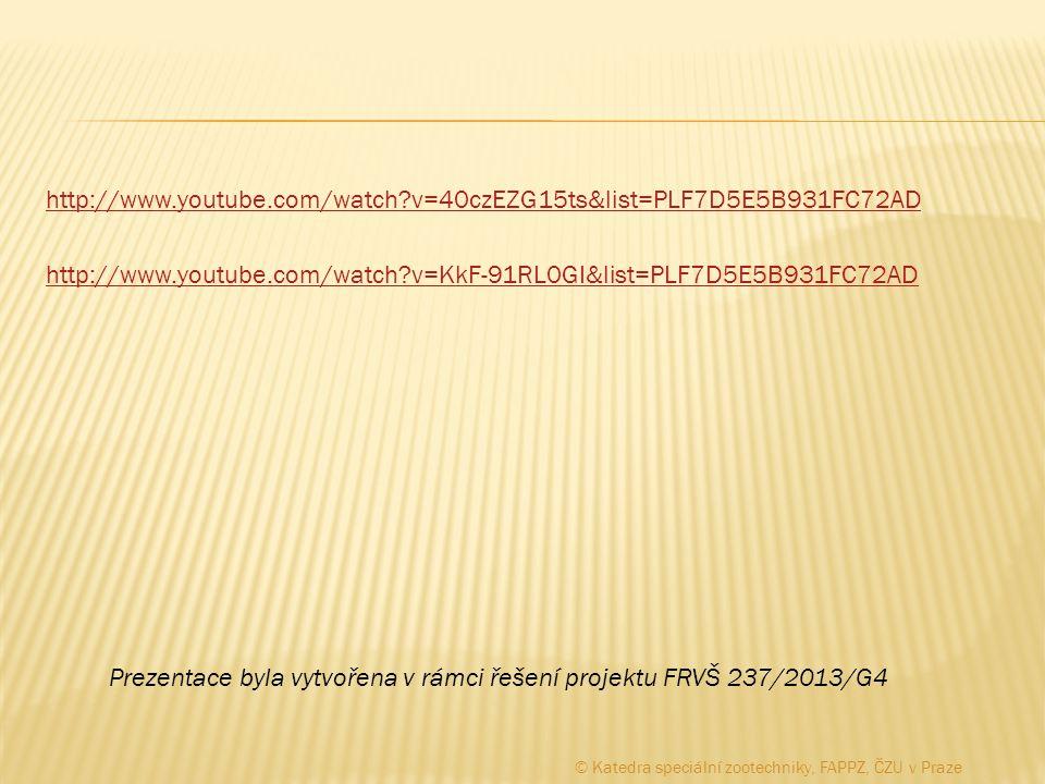 http://www.youtube.com/watch?v=40czEZG15ts&list=PLF7D5E5B931FC72AD http://www.youtube.com/watch?v=KkF-91RL0GI&list=PLF7D5E5B931FC72AD Prezentace byla