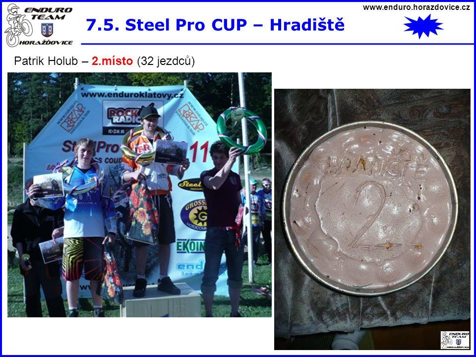 www.enduro.horazdovice.cz 7.5. Steel Pro CUP – Hradiště Patrik Holub – 2.místo (32 jezdců)