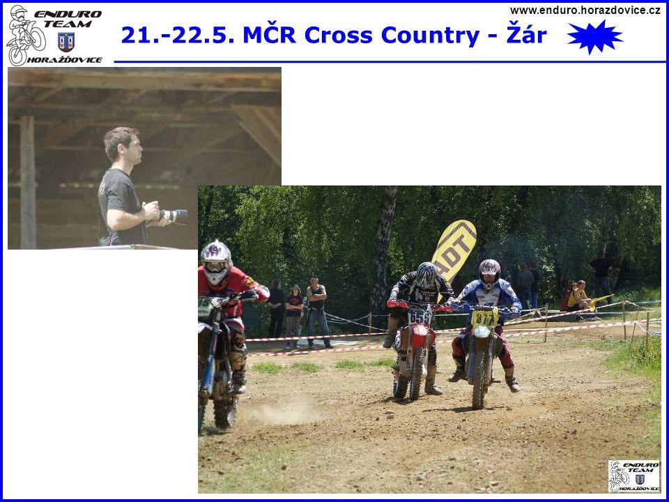 www.enduro.horazdovice.cz 21.-22.5. MČR Cross Country - Žár
