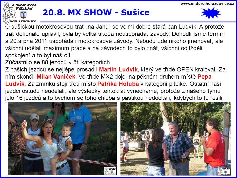 www.enduro.horazdovice.cz 20.8.