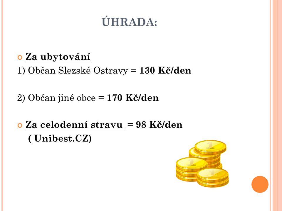 ÚHRADA: Za úkony péče o osobu 1) Osoba pobírající příspěvek na péči = 100 Kč/hod.