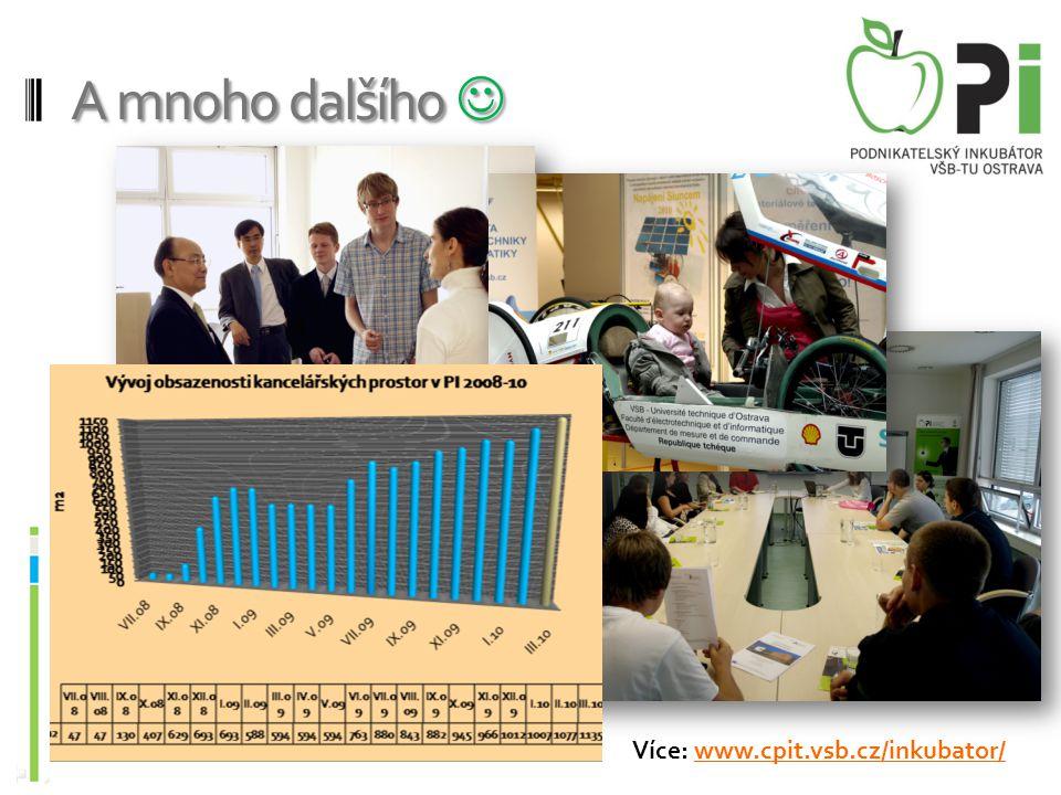 A mnoho dalšího  A mnoho dalšího  Více: www.cpit.vsb.cz/inkubator/www.cpit.vsb.cz/inkubator/