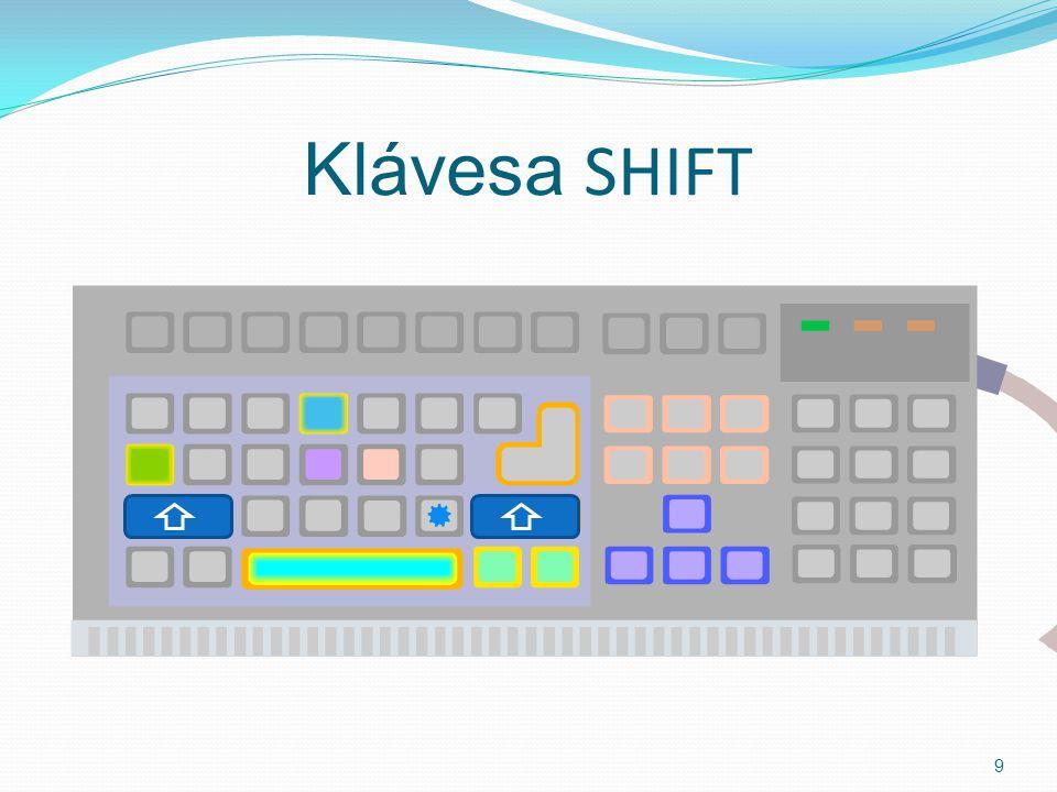 Klávesa SHIFT 9