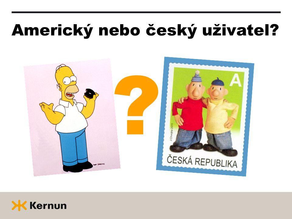 Americký nebo český uživatel