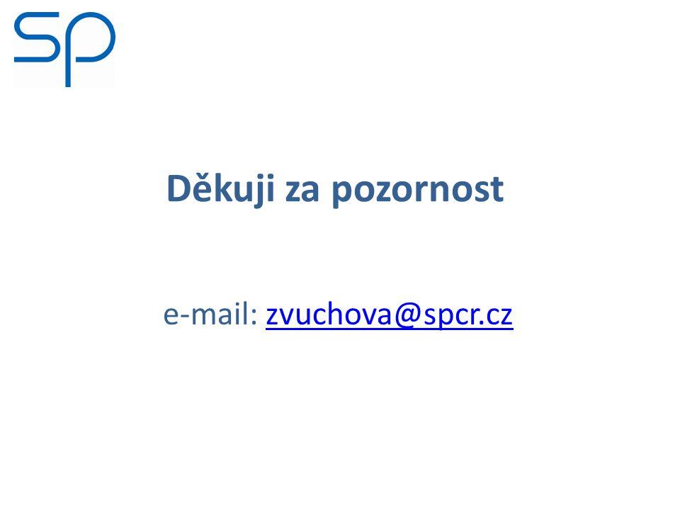Děkuji za pozornost e-mail: zvuchova@spcr.czzvuchova@spcr.cz