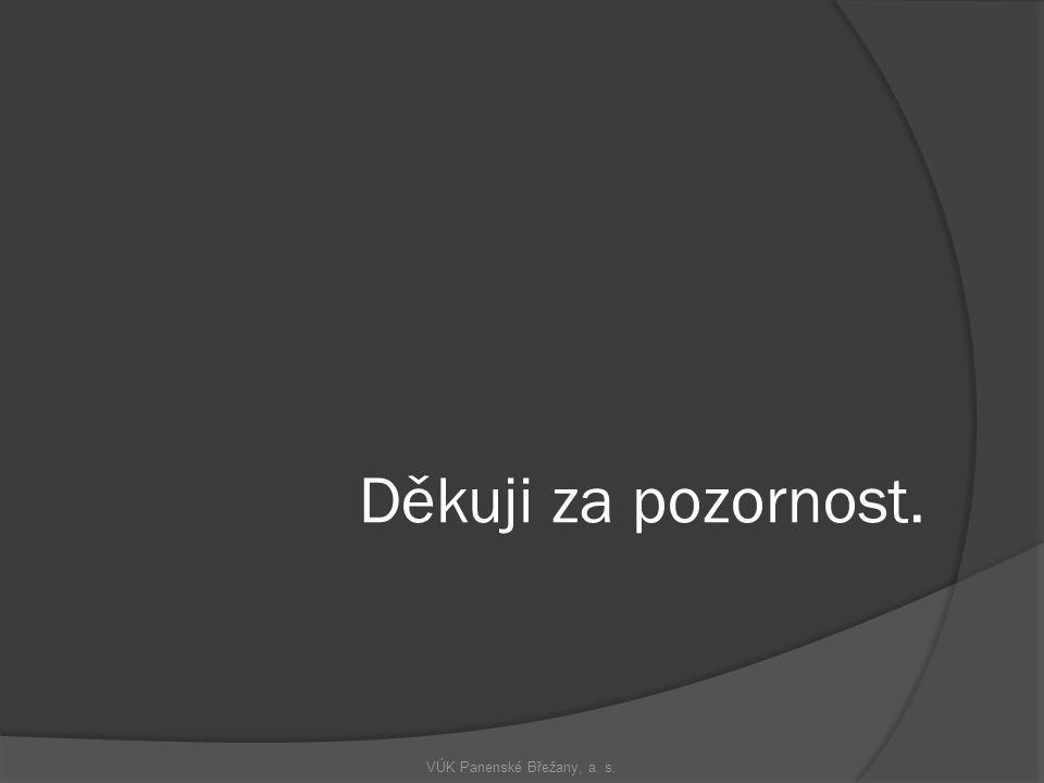 Děkuji za pozornost. VÚK Panenské Břežany, a. s.