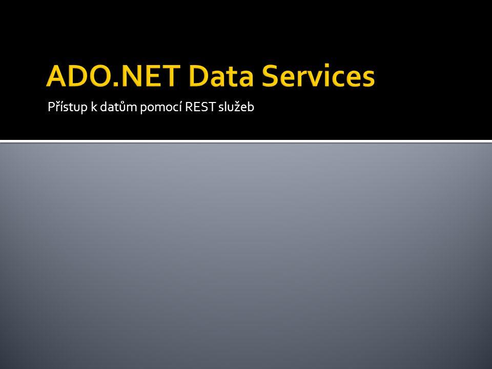 Přístup k datům pomocí REST služeb