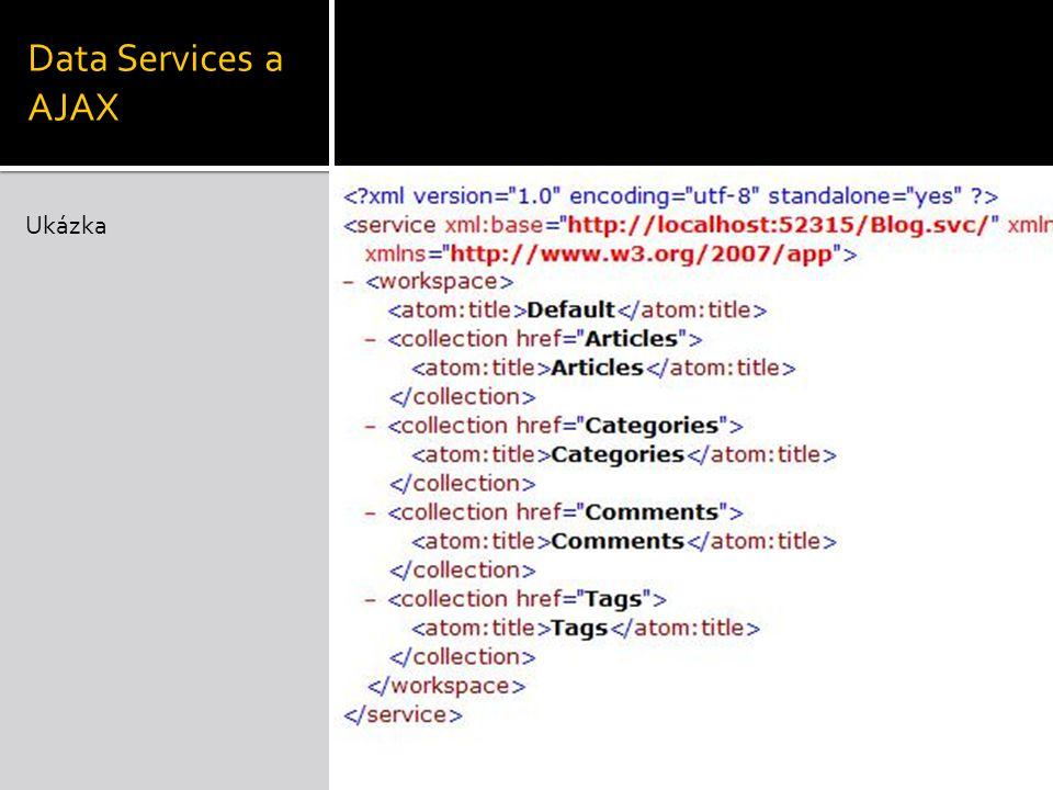 Data Services a AJAX Ukázka