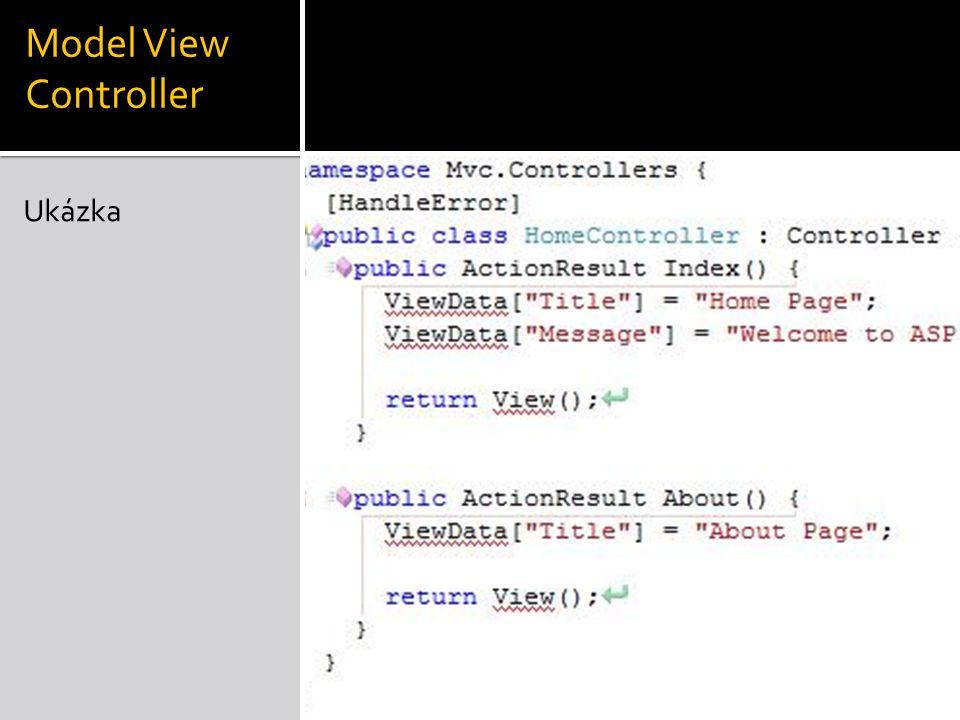 Model View Controller Ukázka