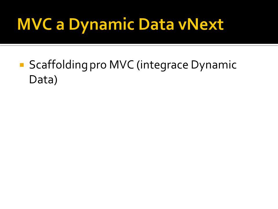 Scaffolding pro MVC (integrace Dynamic Data)