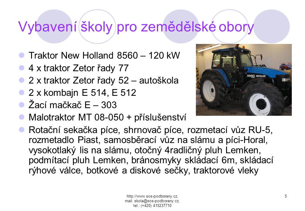 http://www.sos-podborany.cz, mail: skola@sos-podborany.cz, tel.: (+420) 415237710 4 Vybavení školy v oblasti ITC Celkový počet PC 102 s toho 82 určeno