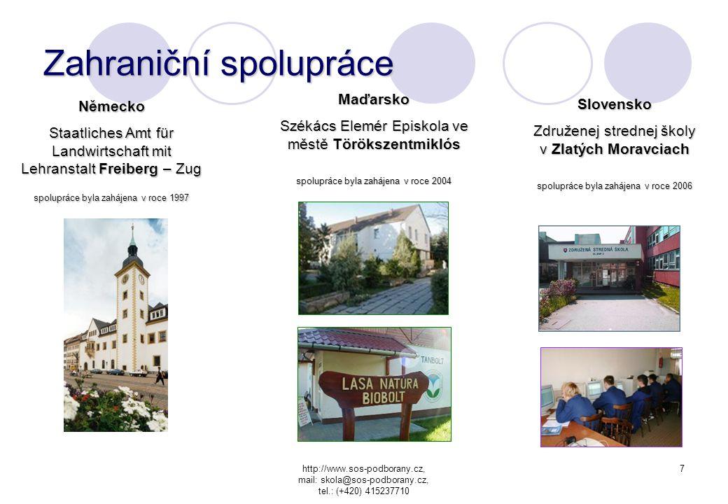 http://www.sos-podborany.cz, mail: skola@sos-podborany.cz, tel.: (+420) 415237710 6 Aktivity školy •Rekvalifikační kurzy pro různé obory * Školící stř