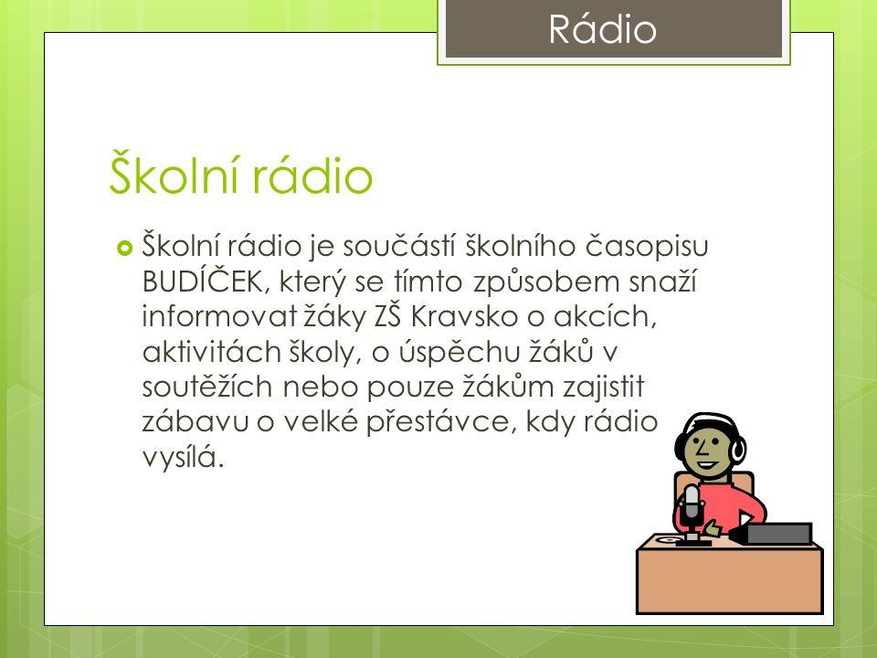 Časopis  Budíček obsahuje především interview s učiteli školy.
