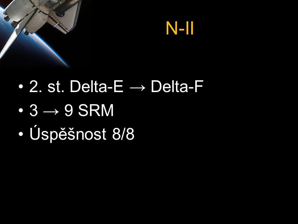 N-II •2. st. Delta-E → Delta-F •3 → 9 SRM •Úspěšnost 8/8