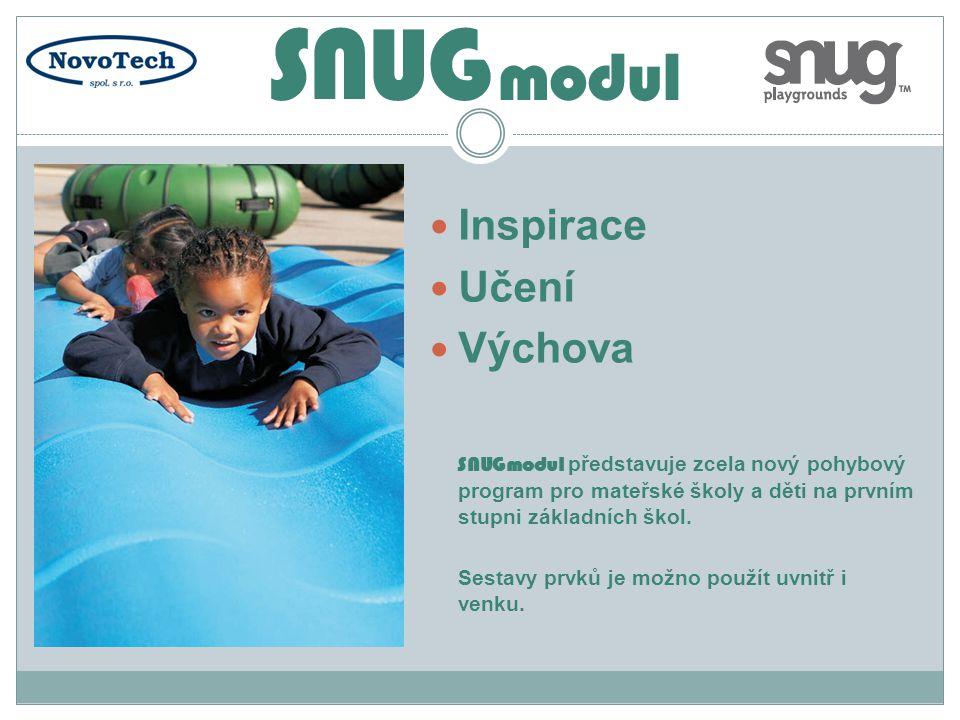  Inspirace  Učení  Výchova SNUGmodul představuje zcela nový pohybový program pro mateřské školy a děti na prvním stupni základních škol. Sestavy pr