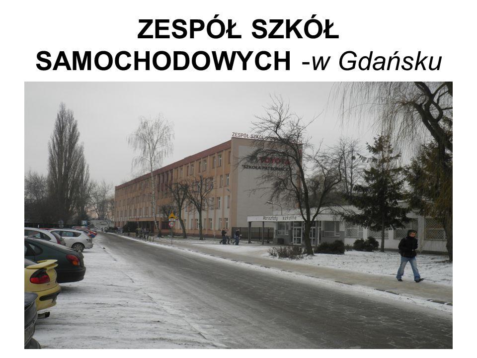 ZESPÓŁ SZKÓŁ SAMOCHODOWYCH -w Gdańsku