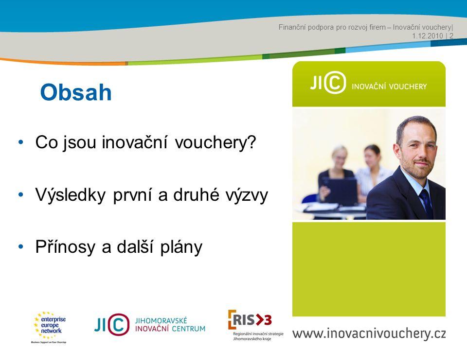 Title of the presentation | Date |‹#› Obsah •Co jsou inovační vouchery.