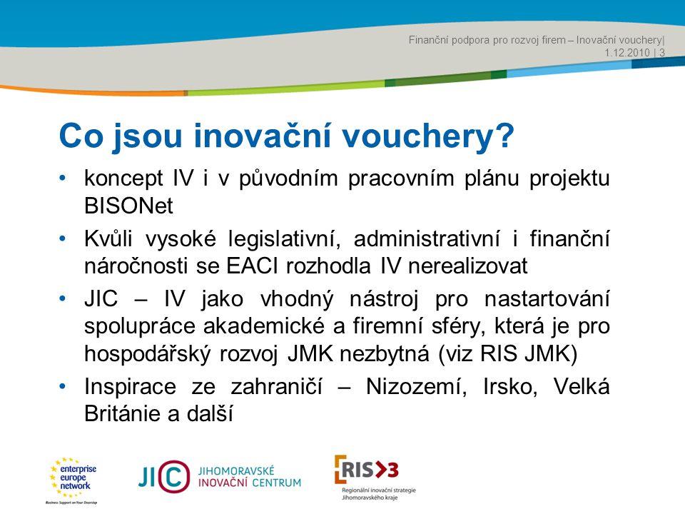 Title of the presentation | Date |‹#› Co jsou inovační vouchery.