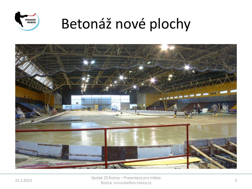 Betonáž nové plochy 21.1.2013 Spolek ZS Rosice – Prezentace pro město Rosice www.stadion-rosice.cz 3