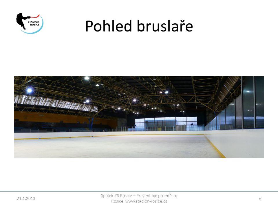 Pohled bruslaře 21.1.2013 Spolek ZS Rosice – Prezentace pro město Rosice www.stadion-rosice.cz 6