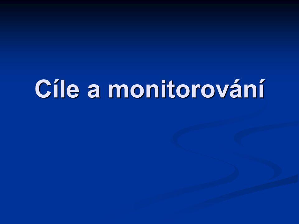 Cíle a monitorování