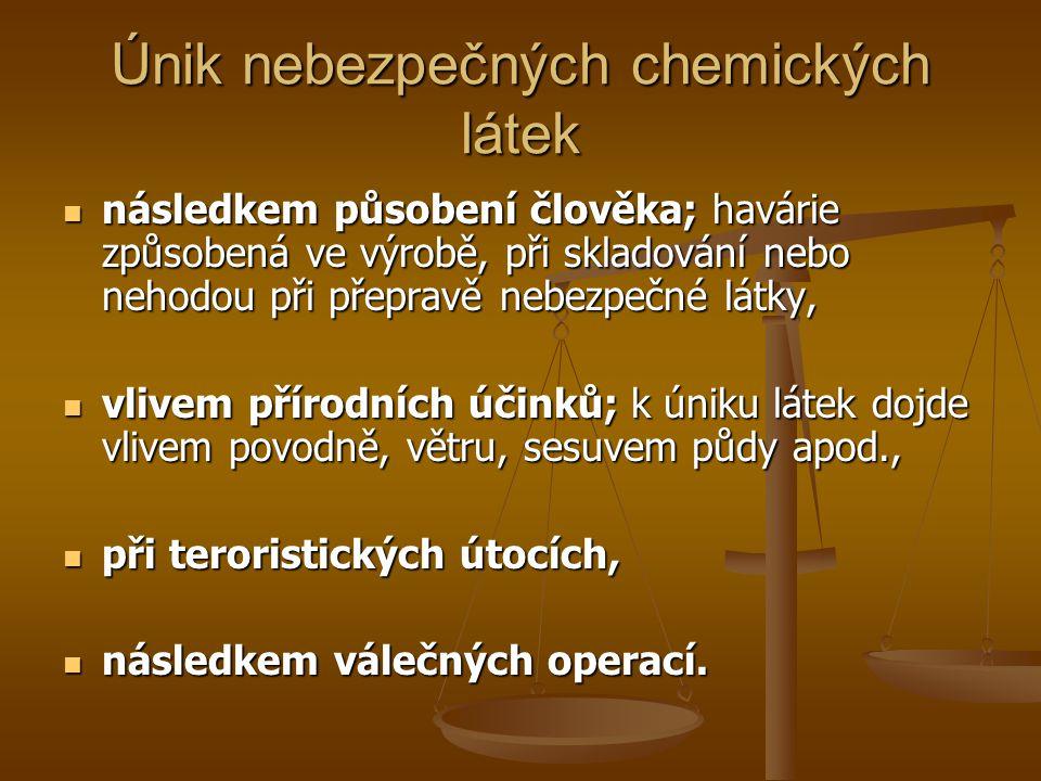 Rozpoznání otravy souhrn příznaků  Bolest hlavy- oxid uhelnatý, oxidy dusíku, chlorované uhlovodíky  Rozšíření zornic- chlorované uhlovodíky  Zúžení zornic- organofosfáty  Zápach z úst- kyanovodík, alkoholy  Svalové křeče- organofosfáty  Namodralé zbarvení kůže- anilin, nitrobenzen  Načervenalé zbarvení kůže- oxid uhelnatý  Bezvědomí- chlor, oxid uhelnatý  Rychlý tep- chlor  Pomalý nebo nepravidelný tep- kyanovodík  Kašel- oxid dusičný  Zvracení- chlor, formaldehyd, sirovodík  Krev ve zvratcích- chlor, chlorovodík, páry kyseliny dusičné