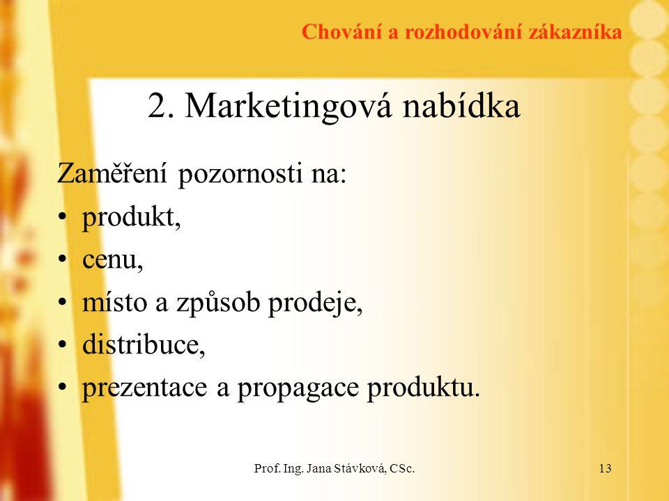 Prof.Ing. Jana Stávková, CSc.13 2.
