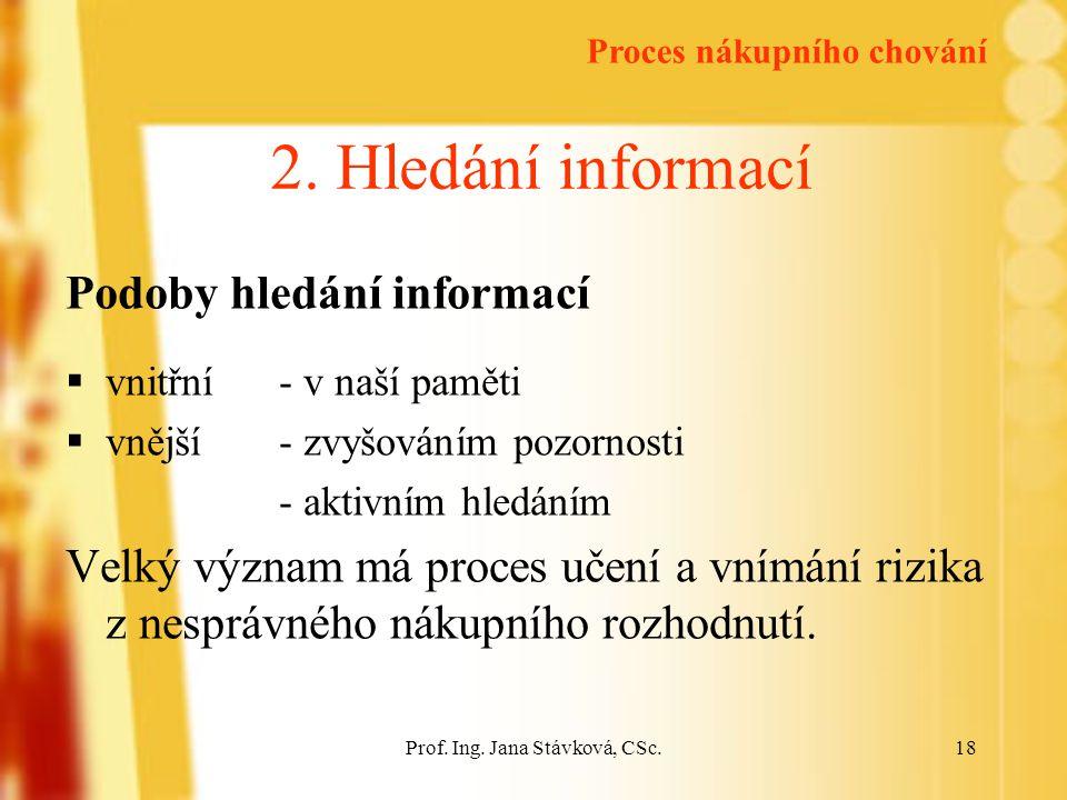 Prof.Ing. Jana Stávková, CSc.18 2.