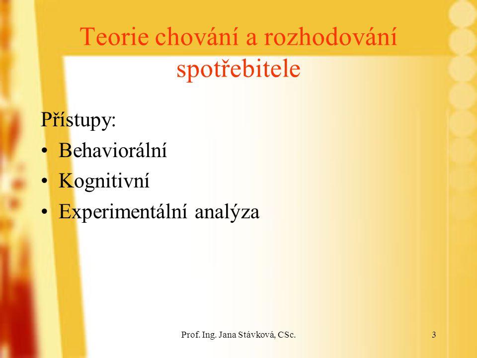 Prof.Ing. Jana Stávková, CSc.14 3.